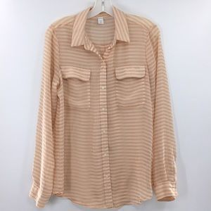 Striped semi sheer old navy A7-225